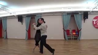 Урок 61. Танго. Разворот назад.