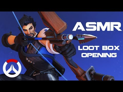 [ASMR] Binaural Overwatch: Opening 52 Archives Loot Boxes