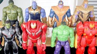 Bonecos Hulk Esmaga, Hulkbuster e Thanos - Marvel Vingadores Avengers Ultimato e Guerra infinita