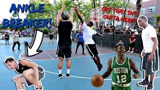 TRASH TALKER TERRY ROZIER TWIN BROKE MY ANKLE HOOPING!!