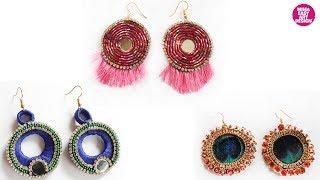 Beautiful and easy earrings making idea |handmade jewellery making |Stylish Jewellery making 2019
