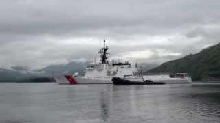 Coast Guard Cutter Waesche first Alaska patrol