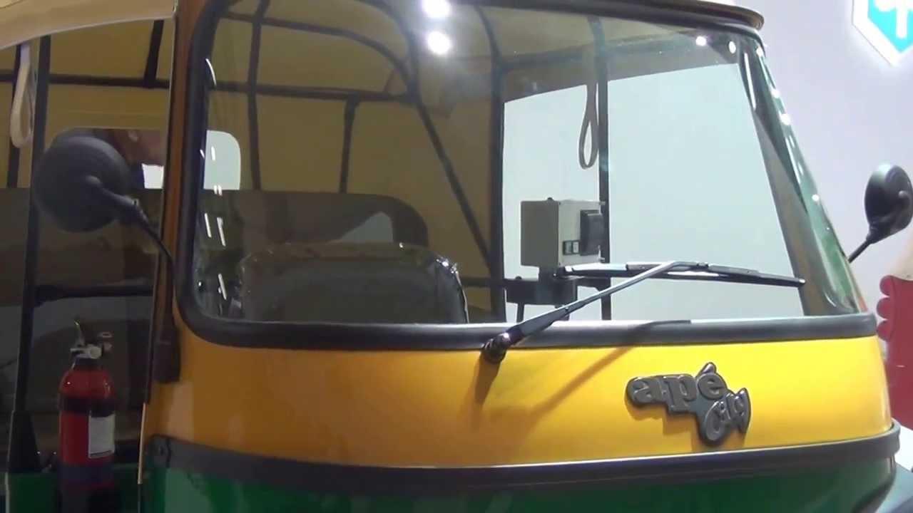Piaggio Ape City Cng Auto Rickshaw Tuk Tuk At 12th Auto Expo 2014