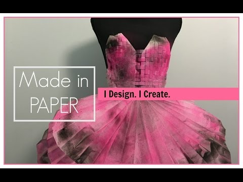 Made a dress from paper!! | Natalie_sitwithme