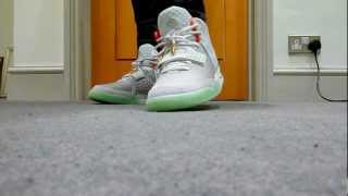 Nike Air Yeezy 2 Wolf Grey/Pure-Platinum on feet review!