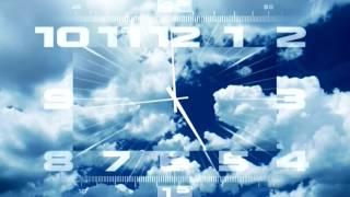 Часы Первого канала (+2) с 28-й секунды перед выпуском новостей (07:00, 17.04.2017)