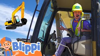 Blippi's Excavator Adventure | Learning Construction Vehicles For Kids