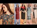 Designer Long Kurti Designs|Latest Long Dress|Latest Designer long one piece dress 2018|TrendyIndia6