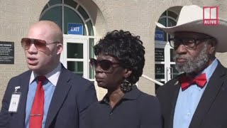 Wife  of 62 year old  Kenneth Herring murdered by white female, speaks outside Murder Trial