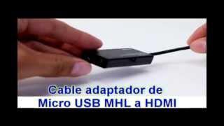 Cable adaptador de Micro USB MHL a HDMI