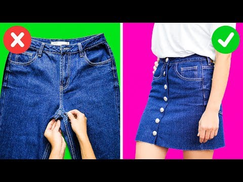 21 BRILLIANT LIFE HACKS WITH JEANS. http://bit.ly/2WDEyq3