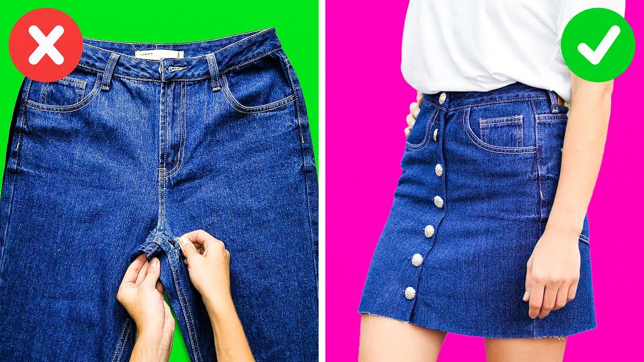 [VIDEO] - 21 BRILLIANT LIFE HACKS WITH JEANS 3
