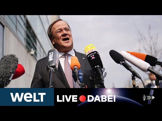 MACHTKAMPF: Warten auf Statement von Armin Laschet nach CDU-Vorstandssitzung | WELT Live dabei
