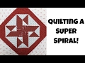 How to Quilt a Super Spiral with Walking Foot Quilting on Your Home Machine