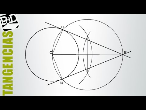 Rectas tangentes a una circunferencia pasando por un punto exterior.