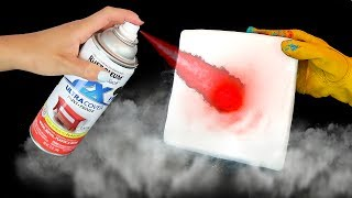 DRY ICE VS PAINT!!