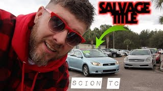 YES ITS A SALVAGE TITLE, But this SCION TC is So NICE!!!! ( Tax Season Used Cars )