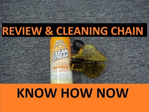 Clean Bike Chain with White Lightning Trigger Cleaner & Review