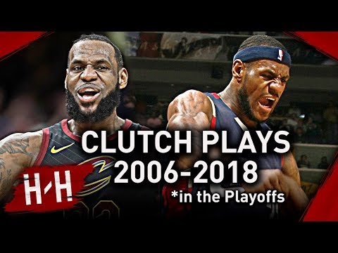 LeBron James Career EPIC CLUTCH Shots, Dunks, Blocks, Game-Winners in NBA Playoffs! (2006-2018)