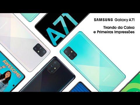 Galaxy A71 - Tirando da caixa e primeiras impressões
