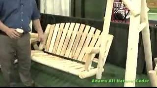 Rustic American Garden Swing Set