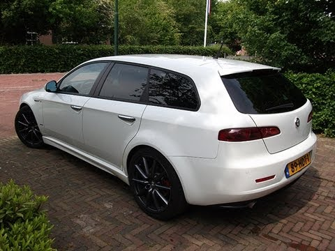 white alfa romeo 159 ti v6 sound youtube. Black Bedroom Furniture Sets. Home Design Ideas