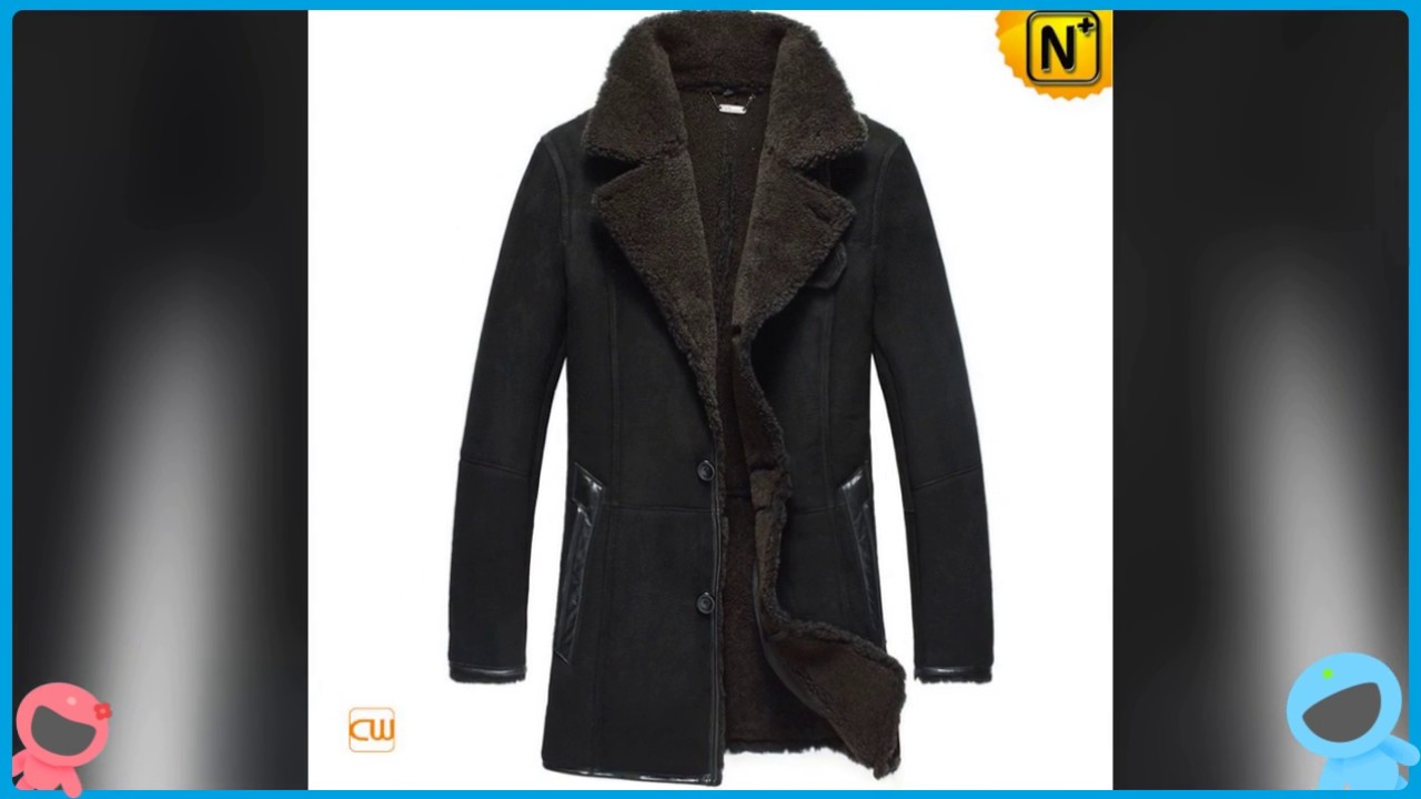 Men&39s Sheepskin Trench Coat Black CW819459 | jackets.cwmalls.com
