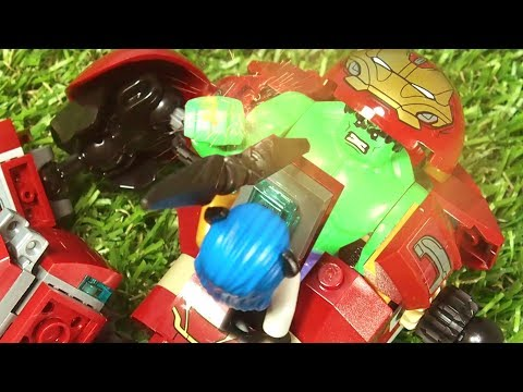 Avengers Infinity War Hulkbuster Falcon Proxima Midnight War of Wakanda fight scene Lego Stop Motion