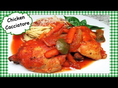 Slow Cooker Chicken Cacciatore Recipe ~ Easy Chicken Crock Pot Dinner