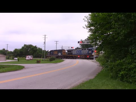 CSX Crosses Swisher Road in Tippecanoe County Indiana #3