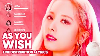 WJSN - As You Wish (Line Distribution + Lyrics Color Coded) PATREON REQUESTED