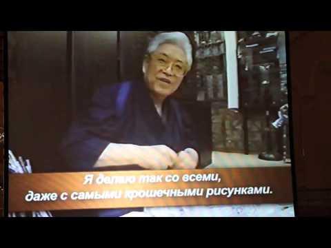 """""""Kimono As Art - Itchiku Kubota """". Фрагменты фильма с русским переводом-1"""