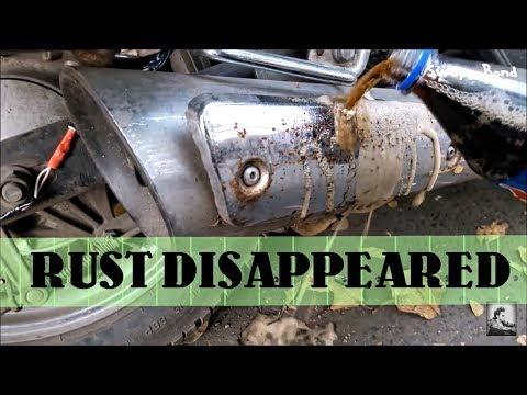Using Coke/Thums up to remove Rust.