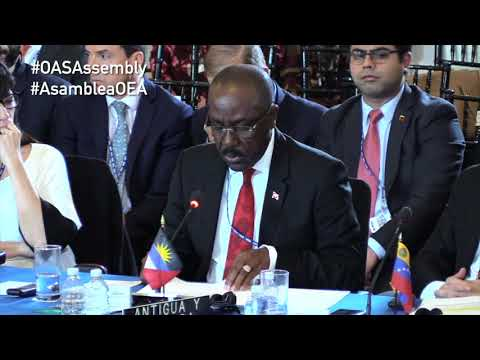 Antigua and Barbuda Participates in #OASAssembly