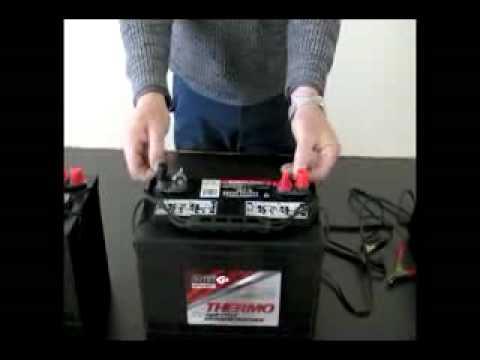 12 Volt Battery Charging Procedure - YouTube