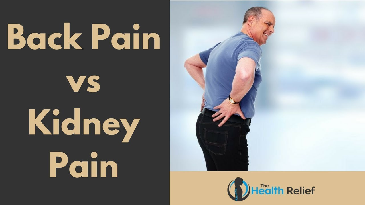 Back Pain Vs Kidney Pain