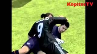 FIFA glitch Andy Carrol Kisses Fabianski