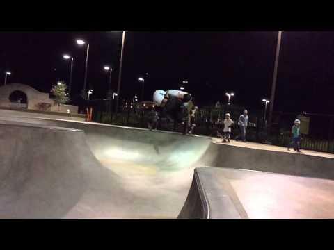 Sierra Kerr Skateboarding girl age 8. Surfer Josh Kerr daughter skating video