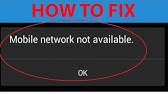 How to Solve No Signal and Network activity Android - YouTube
