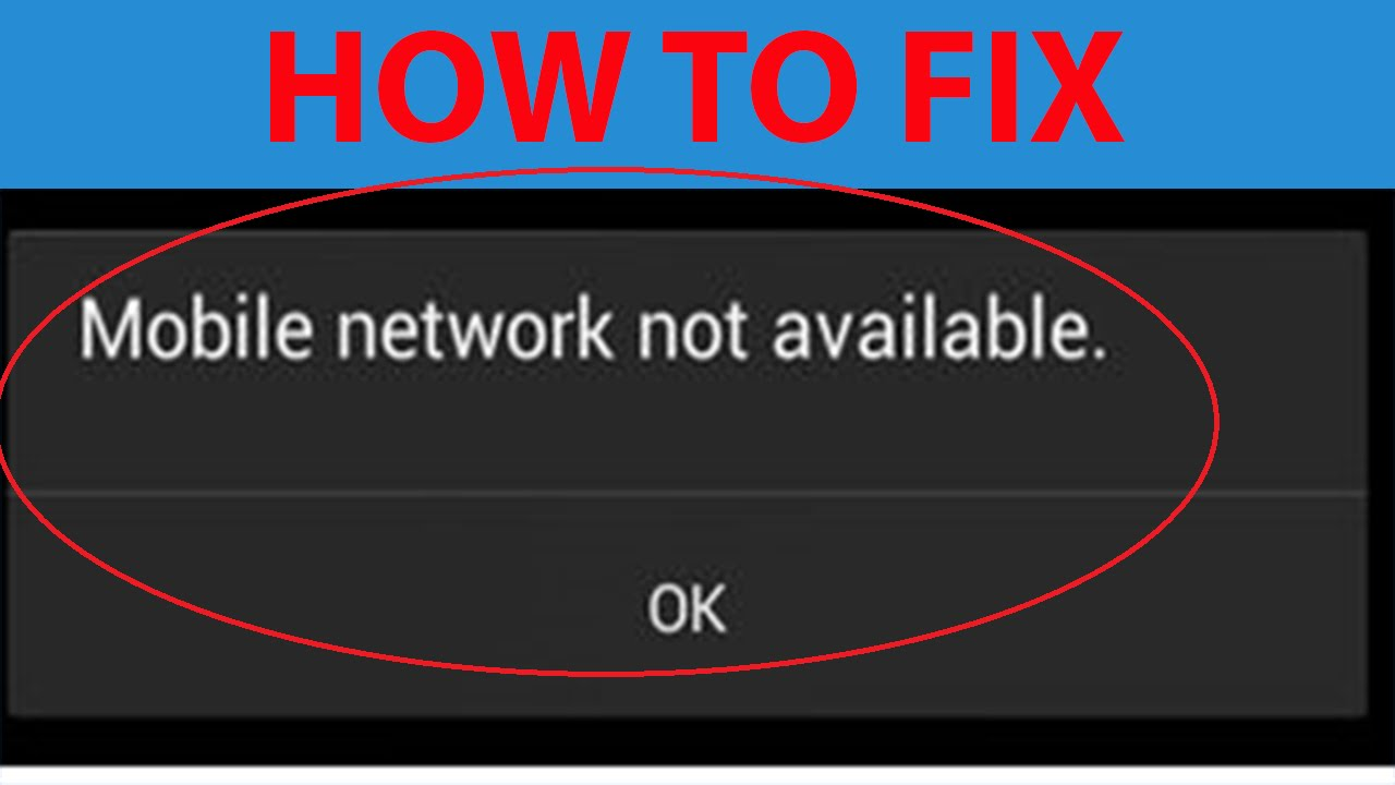 "How To Fix ""Mobile Network Not Available "" On Android ..."