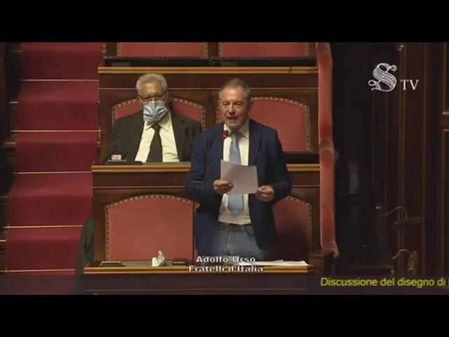 FdI Parlamento - La dichiarazione di voto del Sen. Urso sulla fiducia posta sul DL emergenza COVID