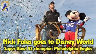 Super Bowl MVP Nick Foles of the Philadelphia Eagles comes to Walt Disney World