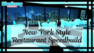 New York Restaurant SB - France NO GAMEPASS - France Moderne ( Bloxburg - France Roblox - France Mamabear Mamabear