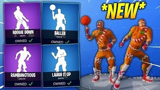 *NEW* FORTNITE SEASON 4 DANCES LEAKED IN REAL LIFE (Baller, Boogie Down, Rambunctious, Laugh It Up)