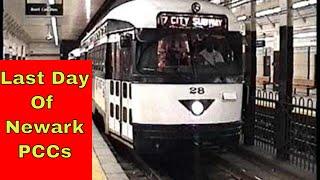 Newark City Subway PCC Last Day: Broad St