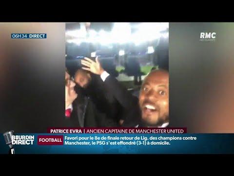Evra et Cantona se moquent du PSG... depuis les tribunes du Parc des Princes