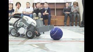 В Нижнекамске роботы сыграли в футбол