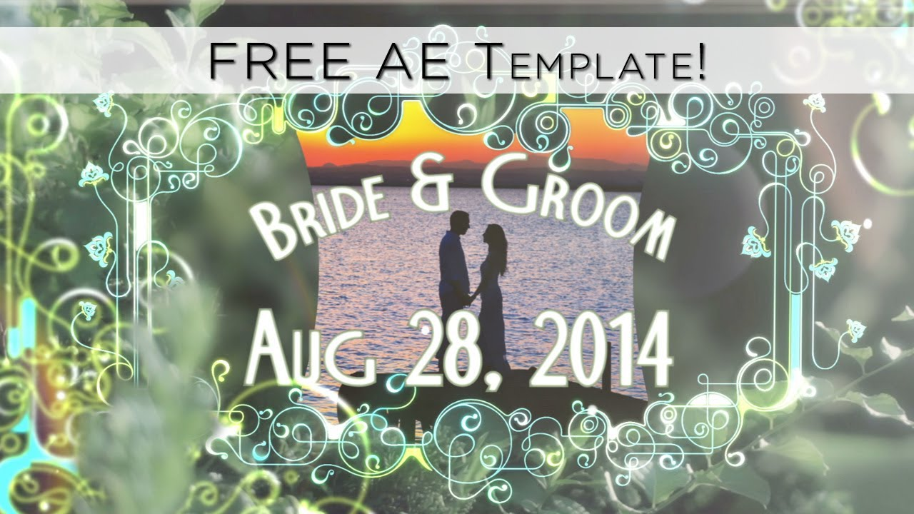 save the date free after effects template youtube
