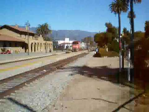 Train in Santa Barbara station