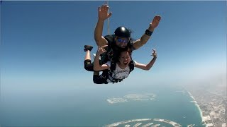 Skydiving with actress Cristine Reyes!